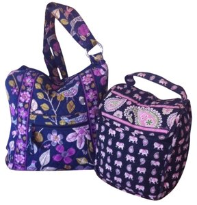 Vera Bradley Floral Nightingales Retired Cross Body Bag