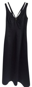 Laundry by Shelli Segal Gown Long Strappy Sleeveless Beeded Satin Dress