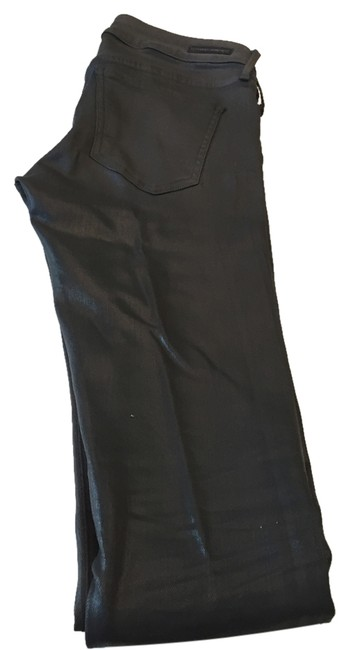 Item - Charcoal Grey Coated Skinny Jeans Size 27 (4, S)