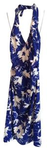 Donna Ricco Halter Abstract Flower Pattern Knee Length Cocktail Dress
