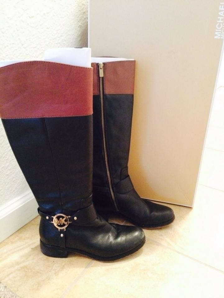 michael kors black and brown boots fulton boots