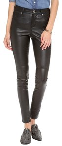 BB Dakota Bb Collective Lucille Leather Skinny Pants Black