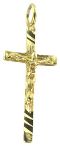 STUNNING CRUCIFIX CROSS PENDANT 14k yellow golds solid