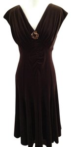 Talbots Velvet Evening Holidays Cocktail Petite V Neck New Date Dress