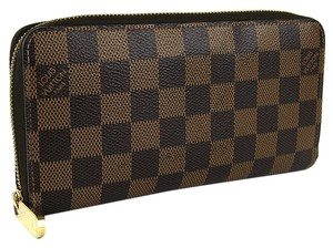 Louis Vuitton Louis Vuitton Damier Ebene Canvas Zippy Zip Around Wallet.