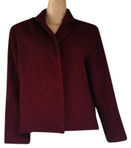 Givenchy Open Front Boucle Jacket Vintage Wine Blazer