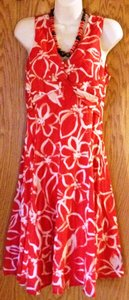 Jones New York short dress Red and white floral Sleeveless on Tradesy