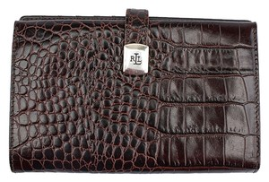 Ralph Lauren Lauren by Ralph Lauren Brown Crocodile Snap Wallet