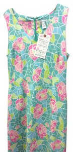 Lilly Pulitzer short dress Mint green lite green different pinks and it white too Size10 Zipper on Tradesy