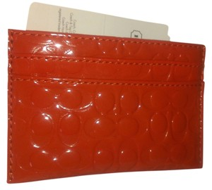 Coach EMBOSSED LIQUID GLOSS CARD CASE