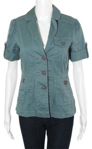 Marc by Marc Jacobs Designer Safari Jacket Dusty Teal Blue Blazer