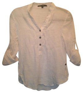 Love Stitch Casual Spring Summer Button Down Shirt White