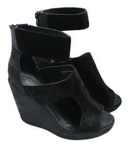 Urban Outfitters Ankle Strap Black Wedges