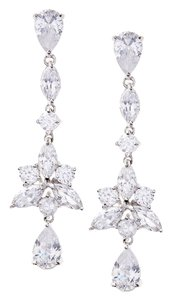 Kenneth Jay Lane Kenneth Jay Lane CZ by Kenneth Jay Lane Round Pear Cut Dangle Earrings