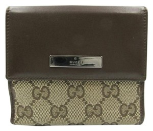 Gucci Canvas Small Wallet Logo brown Clutch