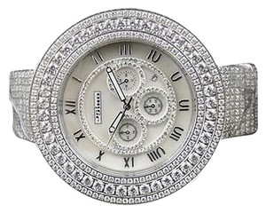 Jewelry Unlimited Mens Jojino By Joe Rodeo Simulated Diamond Avenger 54 MM Watch Mj-8037