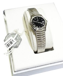 Ebel Ebel Stainless Steel Wave Watch With Black Dial