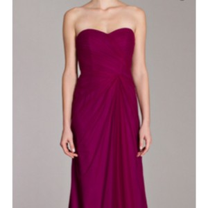 Monique Lhuillier Fuchsia Tulle Formal Bridesmaid/Mob Dress Size 10 (M)
