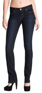 Paige Denim Straight Leg Jeans-Dark Rinse
