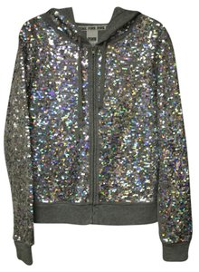 Victoria's Secret Sequin Zip Up Bling Sweatshirt
