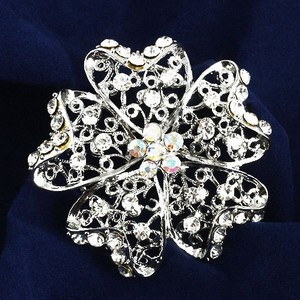 Fashion Silver Alloy Flower Shape Bridal Brooches