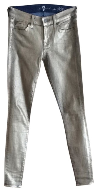 Item - Gold Coated The Skinny Jeans Size 26 (2, XS)