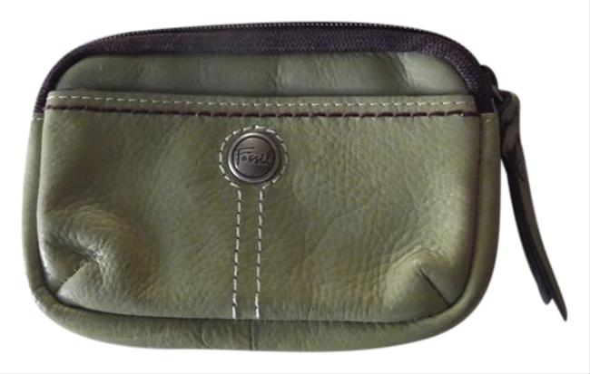 Item - Small Wallet For Money and Id Chartreuse Plum Mulberry Purple Green Leather Cross Body Bag