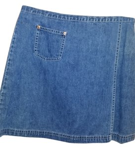 GAP Wrap Mini Mini Skirt Denim