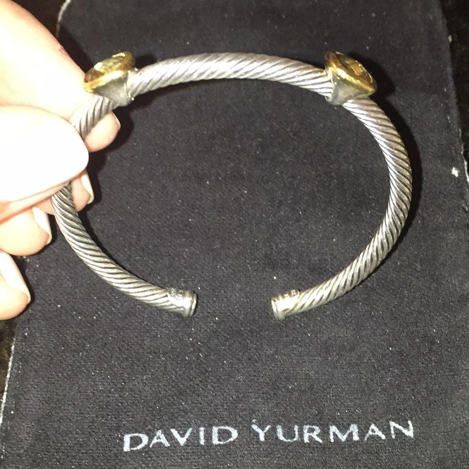 David Yurman 18k Gold Sterling Silver Smoky Quartz Albion Limited Edition Bracelet