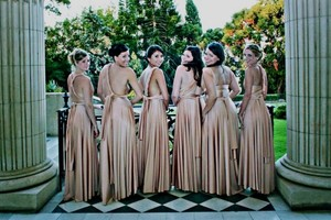 Twobirds Ballgown Bridesmaid Infinity Pink Wear Inifinity Dress