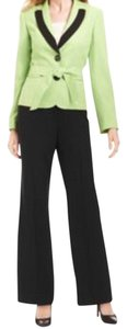 Le Suit LE SUIT NEW Tuileries Green Long Sleeves Contrast Trim 2PC Pant Suit 14. Ships in one day.