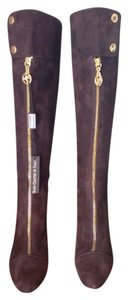 Other Tall Knee Made In Italy Espresso Brown Italian Suede Boots