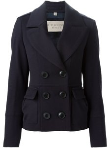 Burberry Brit Nwt Double Breasted Navy Jacket