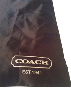 Coach Satin Silver Drawstring Tote in Brown