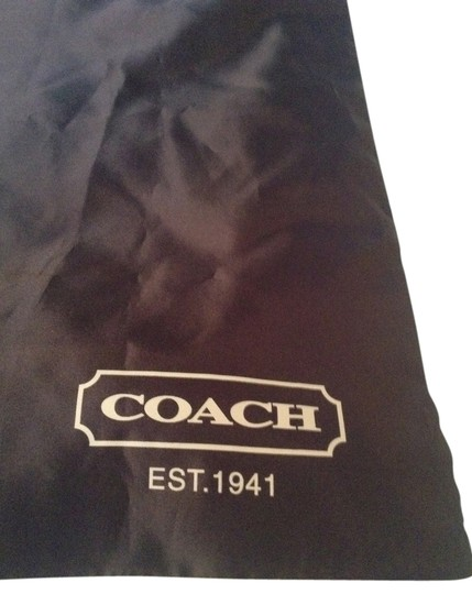 Coach Satin Silver Drawstring Travel Accessories Backpack Large Big Tote in Brown