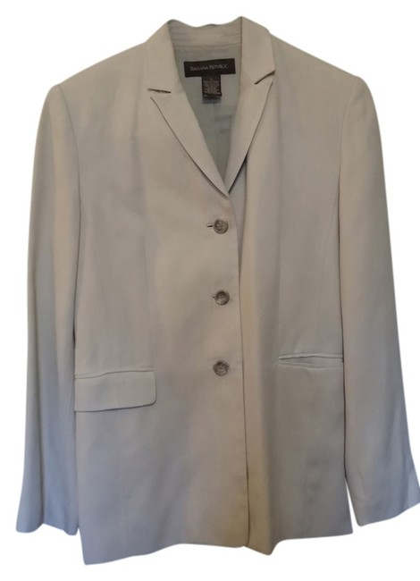 Banana Republic Silk Suit Khaki/Beige Blazer