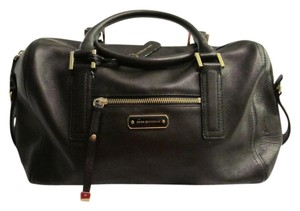 Dana Buchman Leather Carryall Weekend Satchel in mahogany