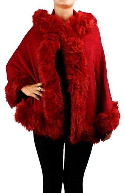 Preload https://item4.tradesy.com/images/red-winter-faux-fur-trimmed-wrap-shawl-ponchocape-size-os-one-size-7902763-0-1.jpg?width=400&height=650