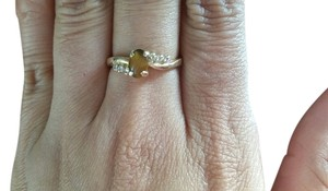 tiger eye ring.14k