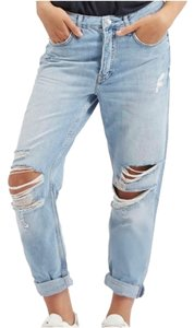 Topshop Moto Boyfriend Cut Jeans-Distressed