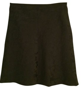 Old Navy Pencil A-line Brocade Lace Office Suit Skirt Black