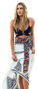 Free People Sweet Escape Embroidered Bohemian Boho-chic Gauze Maxi Skirt