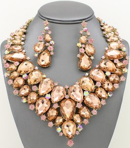 Peach/Silver Special Listing For Shondia Jewelry Set