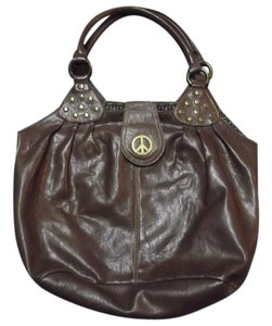 Axcess Vintage Classic Peace Sign Liz Claiborne Hobo Bag