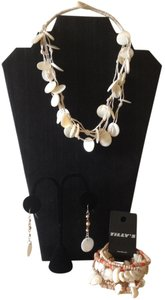 Tilly's Shells, Wood and Beads Beach Jewelry 3 pc Set