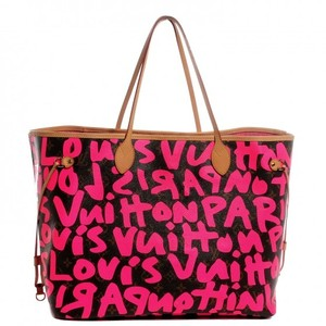 Louis Vuitton Monogram Stephen Sprouse Graffiti Neverfull Gm Monogram Stephen Sprouse Graffiti Neverful Neverfull Gm Limited Tote in Fuchsia / pink
