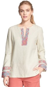 Tory Burch Vintage Linen Fair-trade Embrodery Embroidered Tunic