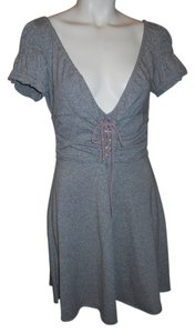 Free People short dress grey & pink on Tradesy