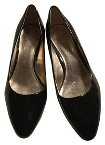 Circa Joan & David Patent Leather Black Pumps