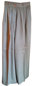 Express Wide Leg Palazzo Gaucho 0 Trouser Pants Khaki Green